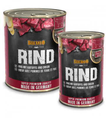 BELCANDO® Rind mit Kartoffel & Erbsen